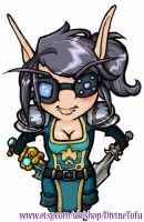 WoW Chibi : Blood Elf Rogue by DivineTofu