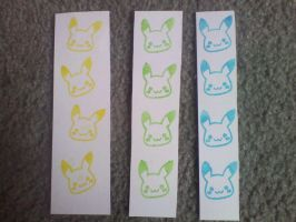 Pikachu Bookmarks for SALE -Open- by CelestialAdoptables