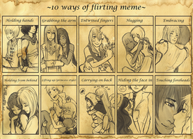 -10 Ways of Flirting Meme- by AkitheFrivolicious