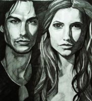 Damon and Katherine by cherieangejade