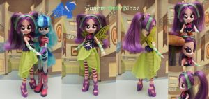 Custom Equestria girls Aria Blaze by ShiveringCanvas