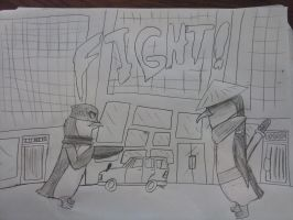 street fighter (penguins of madagascar edition) by 1970superbird