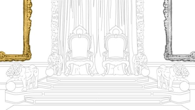 Throne room lineart by Lesleigh63