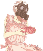 DRAMAtical Murder Render - Clear || Pink Apron by WhateverheadDrop