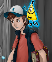 Dipper and Bill by xionMart