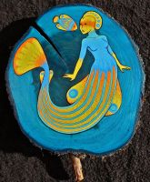 Angelfish Mermaid by LizPotterArt