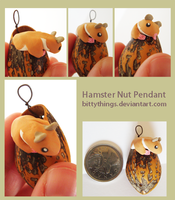 Nut Pendant Hamster - SOLD by Bittythings