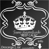 KEEP CALM forma personalizada by monzedkltz