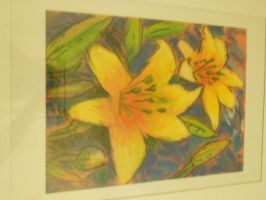 Yellow Flower Chalk Pastel by gangstakitteh