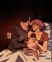 Sarada's Birth by RMizukaze