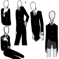 Slenderman sketch dump by RetroTrickster