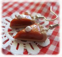 Pumpkin Pie Earrings by kiayum