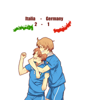 Italia Vs. Germany 2 - 1 by ChocoHal