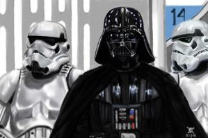 VADER AND TROOPS by NeDrawMas