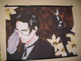 Claude Faustus Wall Scroll by OppaFaustusStyle