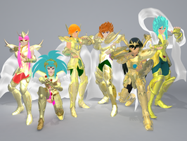 Saint seiya omega : Athena Exclamation by Wets01