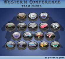 Western Conference Team Pucks by Steve-Smith