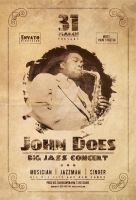 Jazz Concert Retro Flyer by iorkdesign