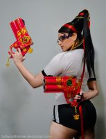 Bayonetta P.E. Uniform - What are you looking at? by Luthy-Lothlorien