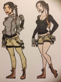 Lara Croft sketches by WildKurtisTrent