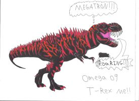 Omega 09 T-Rex me!!! by Dinosuarjosh