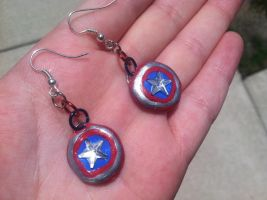 Cap Earrings! by AiwenStarr