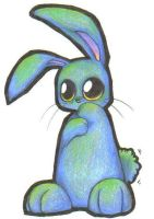 Blue Bunny by rainbowstitches