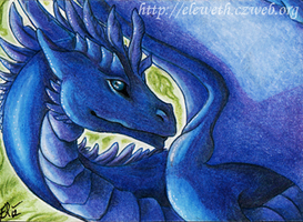 ACEO: Penny-dragon by Eleweth