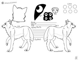 free wolf reference sheet line art by SpiritInSpace