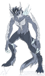 Utari Ice Demon Form by MoonstalkerWerewolf