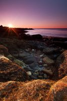 Sunrise Rocks by EvaMcDermott