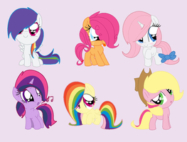 Mane Six Shipping Adopts! (OPEN) by SNlCKERS