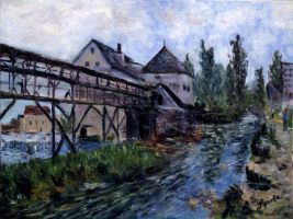 Free copy of A. Sisley painting by Alekra81