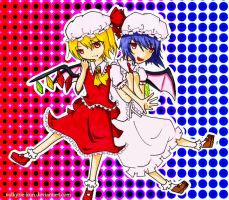 Flandre and Remilia by silkhat