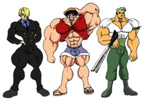one piece of muscles...colored by chocomus