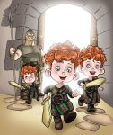 The BRAVE Triplets by johngreeko