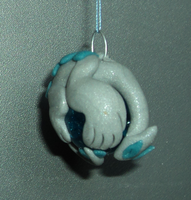 Blue and Silver Lugia Charm by The-Clockwork-Crow