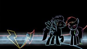 Soarin' X Dash Glow Wallpaper by Chaotic-Rarity