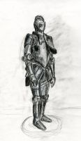 Armor Drawing by Xoxorian
