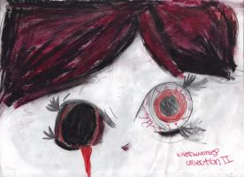 Visceraline's Eyes by AkaiChounokoe