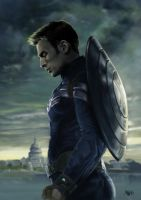 Captain America - Winter Soldier by ErsbethShadowsong