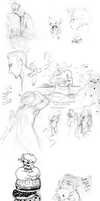 Hetalia Sketchdump by crystalAlluvion