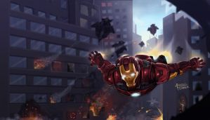Iron Man Avengers by CARFillustration