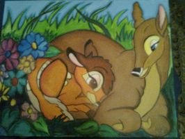 Bambi and his Mum by nokia-m97