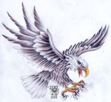 Tattooflash Eagle by 2Face-Tattoo