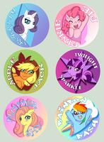 My Pony Buttons by michielynn