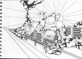 invasion of tokyo sketch by aniline