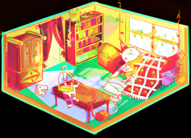 [oc] Fire prince's bedroom by Cheapcookie