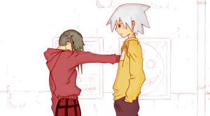 Soul and maka fanmade by Souuleaater