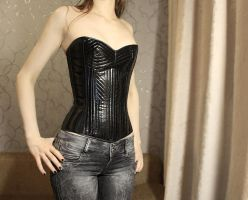 PVC and satin corset. by satanaya